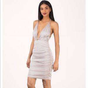 Light Lavender Plunging Bodycon Dress